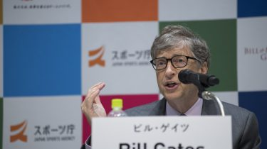 Bill gates op conferentie