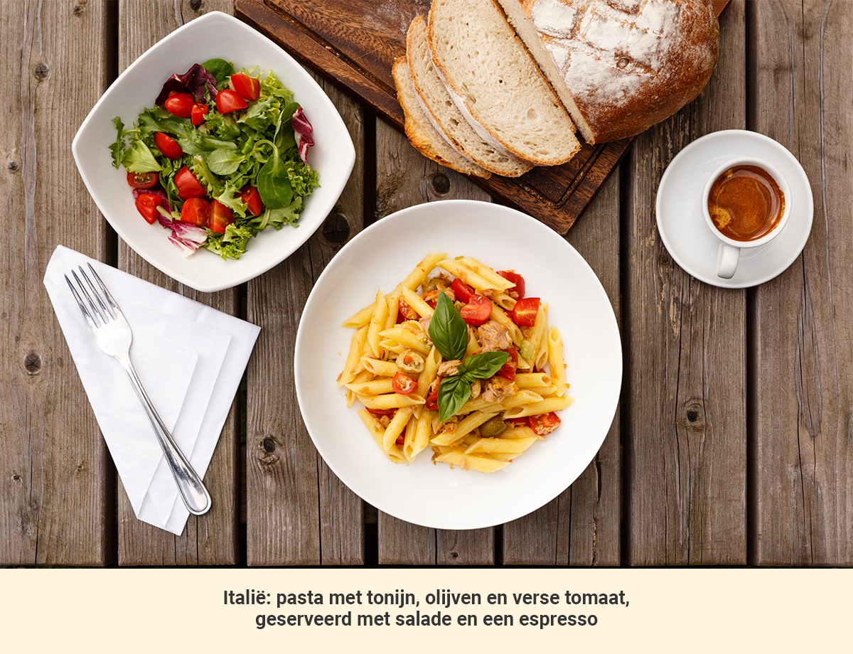 Lunch in Italië